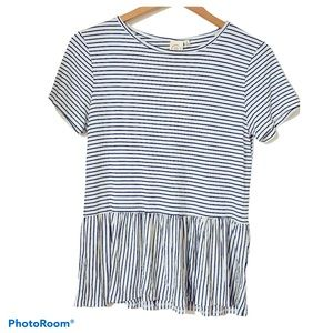 NWT LIVE IN THE MOMENT Women's Striped Blouse Sz S